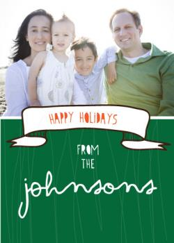 Banner Bliss Holiday Photo Card