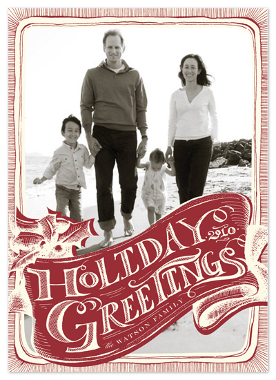 holiday photo cards - vintage greeting by pottsdesign