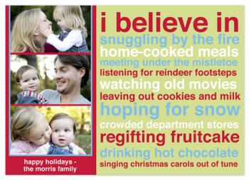 I Believe in Mod Holiday Photo Cards