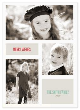 Merry wishes Holiday Photo Cards
