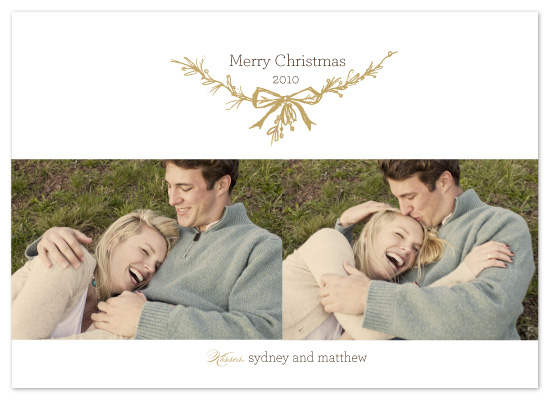 holiday photo cards - Mistletoe Kisses by sweet street gals