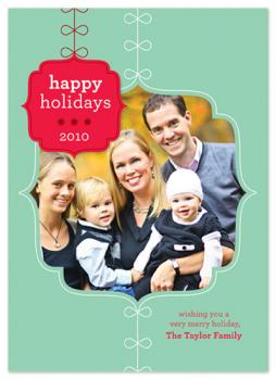 Fancy Ornament Holiday Photo Cards
