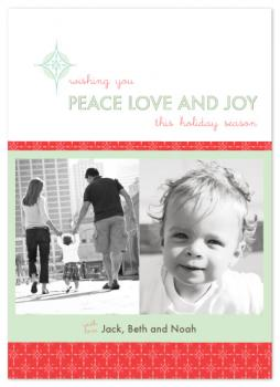Peace Love Joy  Holiday Photo Cards