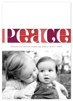 Peace of Paper Holiday Photo Cards