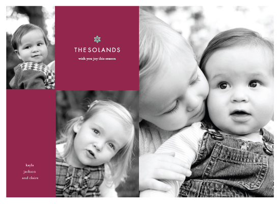 holiday photo cards - simple chic by kelli hall
