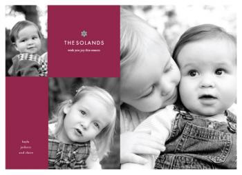 simple chic Holiday Photo Cards