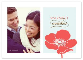 Frosted Poppy Holiday Photo Cards