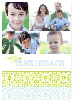 WishPeaceLoveJoy 2 Holiday Photo Cards