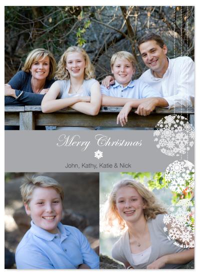 holiday photo cards - Snowflake Ornaments by Sarah-fina