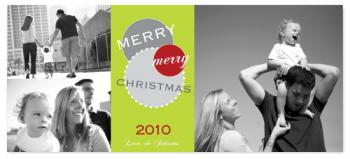 Urban City Circles Greeting Holiday Photo Cards