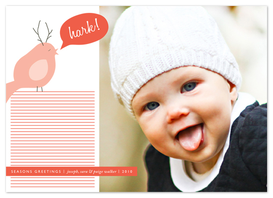holiday photo cards - Hark! by b.wise papers
