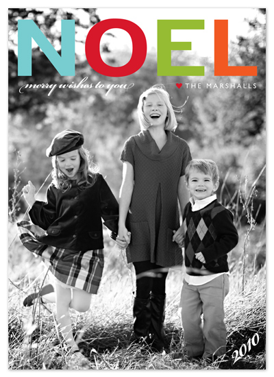 holiday photo cards - NOEL by b.wise papers