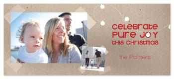 Celebrate Pure Joy 2 Holiday Photo Cards