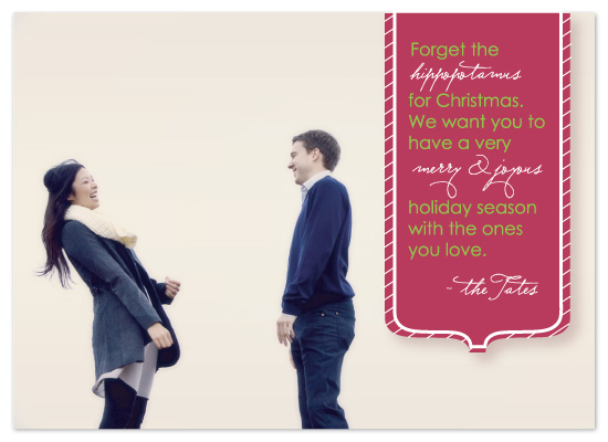holiday photo cards - Forget the Hippopotamus by Susan Crispell