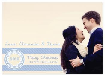 Something Blue Holiday Photo Cards