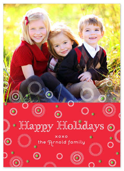 holiday photo cards - Joyful Starbursts by j.bartyn