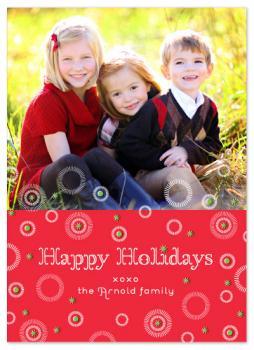 Joyful Starbursts Holiday Photo Cards