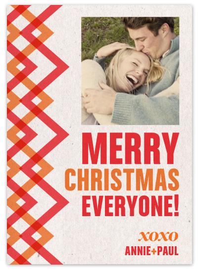 holiday photo cards - Zig Zag by Jody Wody