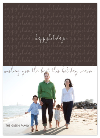 holiday photo cards - Happy Holidays by Diana Heom