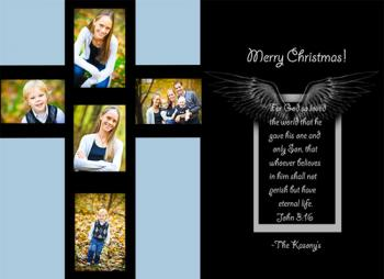 Cross Holiday Photo Cards
