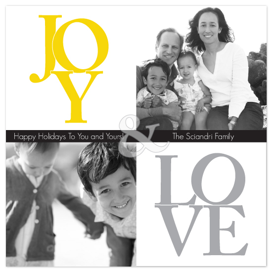 holiday photo cards - Joy and Love Sculptures by Sarah-fina