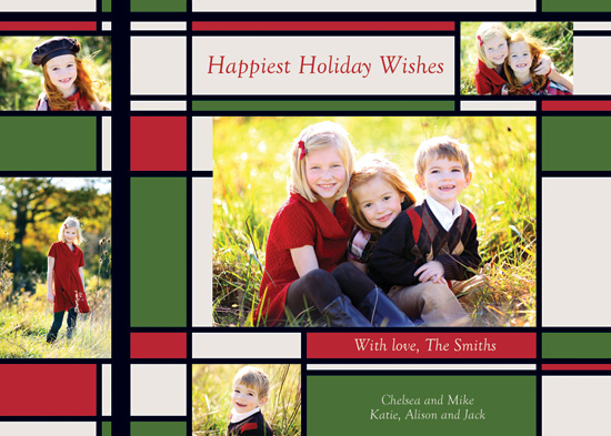 holiday photo cards - Happiest Holiday Wishes - Red by Michelle Maki