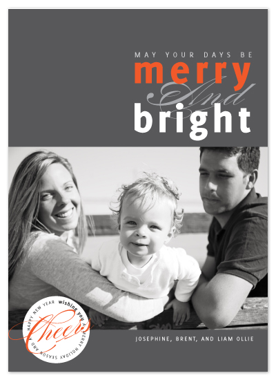holiday photo cards - merry mod by R studio