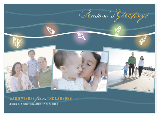 holiday photo cards - String Shell Lights by CBeeProject