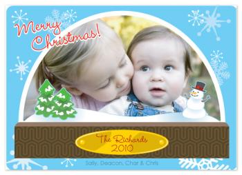 Snowglobed Memories Holiday Photo Cards