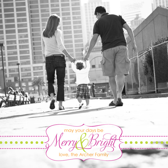 holiday photo cards - Merry & Bright :: A Modern Twist by Leslie Ann Jones