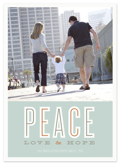 holiday photo cards - peace love & hope by The Social Type
