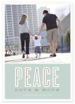 peace love & hope Holiday Photo Cards