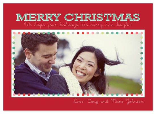 holiday photo cards - merry and bright by sara westbrook