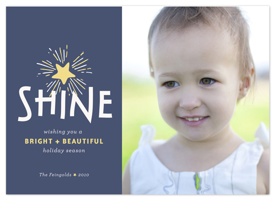 holiday photo cards - shine by The Social Type