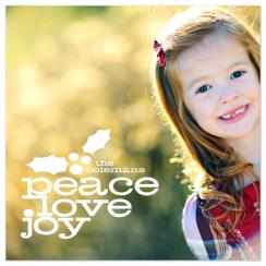 Peace Love and Holly Holiday Photo Cards