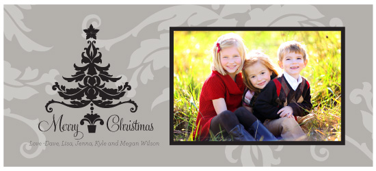 holiday photo cards - merry christmas tree by sara westbrook
