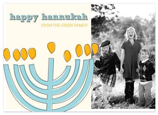 holiday photo cards - Happy Hannukah by Diana Heom
