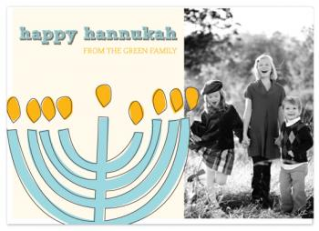 Happy Hannukah Holiday Photo Cards