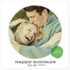 Round Effect Holiday Photo Cards