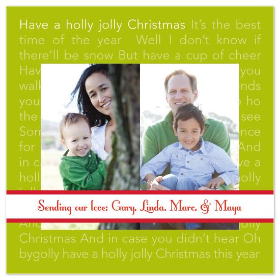 holiday photo cards - Holly Jolly Christmas by Sashi & Miko