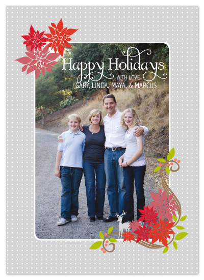 holiday photo cards - Sweet Poinsettia by Sashi & Miko