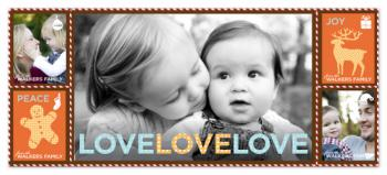 Holiday LOVE-LOVE-LOVE Holiday Photo Cards