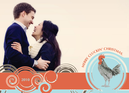 holiday photo cards - Merry Cluckin' Christmas.  by Annie Brace
