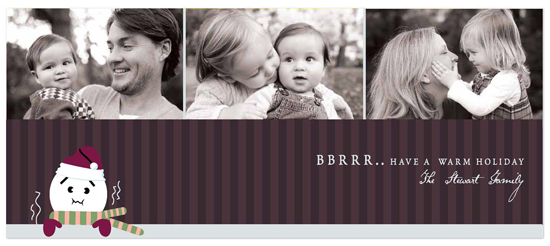 holiday photo cards - bbrrrr by chocomocacino