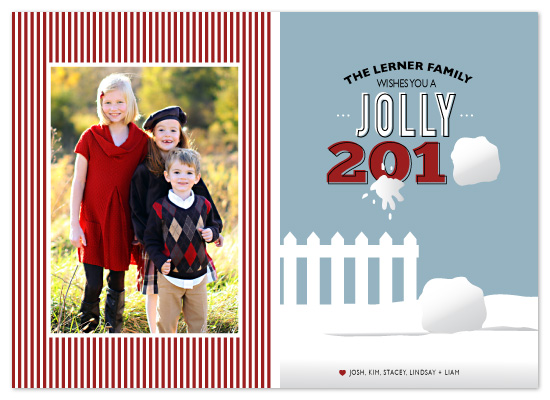 holiday photo cards - Snowball Fight by The Opened Envelope