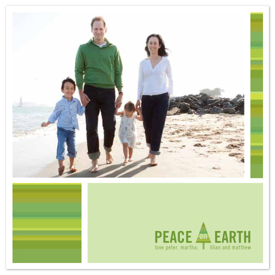 holiday photo cards - tonal peace by sweet tree studio