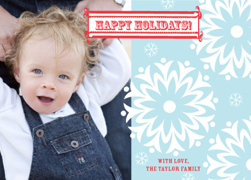 holiday photo cards - snow flurry by Heatherly