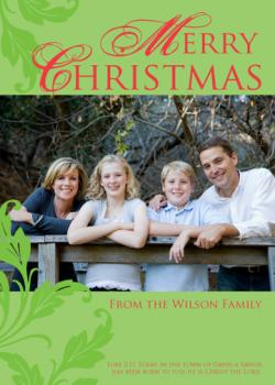 A Savior has been born Holiday Photo Cards