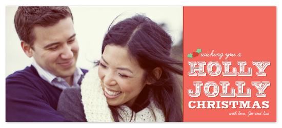 holiday photo cards - Holly Jolly Christmas by Mulberry & Marie
