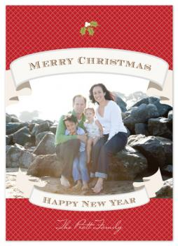 Ribbons Holiday Photo Cards